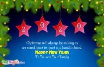 Happy New Year Family Friends