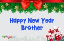 Happy New Year Bro Images