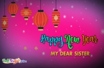 Happy New Year My Dear Sister Image