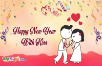 Happy New Year With Kiss