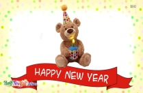 Happy New Year With Teddy Bear