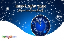 Happy New Year With You And Your Family