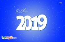 Hello 2019