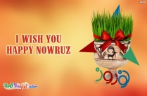 I Wish You Happy Nowruz