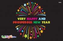 Very Happy And Prosperous New Year Image