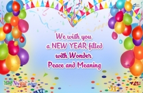 Wish You A New Year Filled With Wonder, Peace And Meaning Message