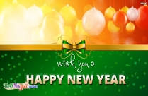 Wish You A Happy And Prosperous New Year Quote