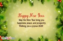 Wishing You A Joyous 2020!