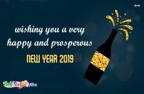 Wishing You A Very Happy And Prosperous New Year 2019