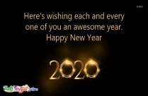 Happy New Year 2020 Clipart Black And White