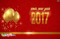 Xmas New Year 2017 Card