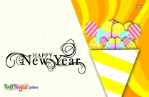 Yellow Background Happy New Year