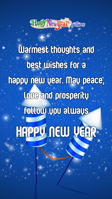 Warmest Thoughts and Best Wishes For A Happy New Year