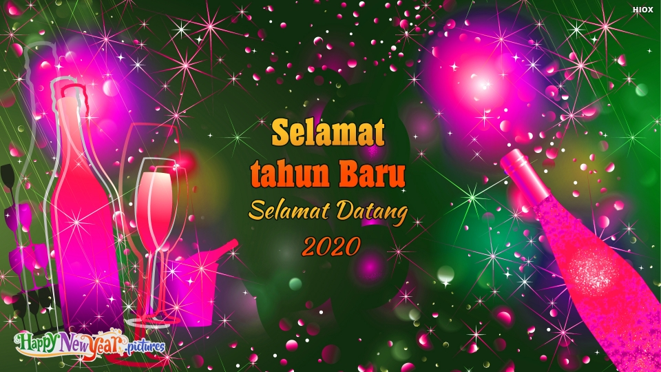 Happy New Year Welcome 2020 In Malay