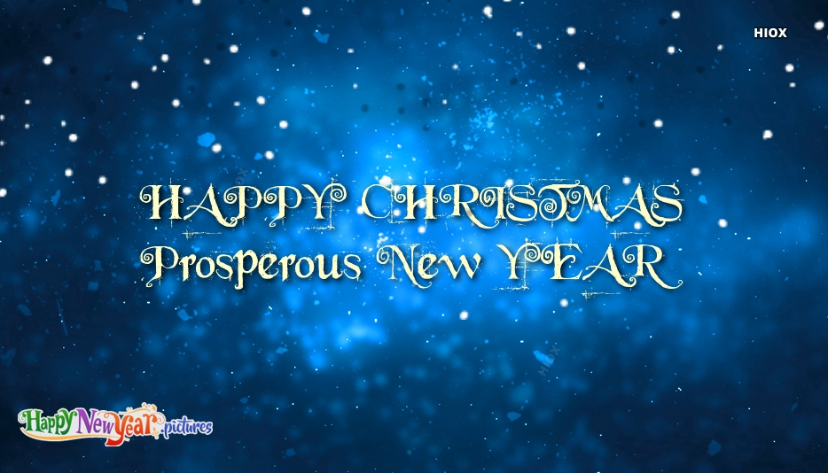 Wish You Happy Christmas and Prosperous New Year