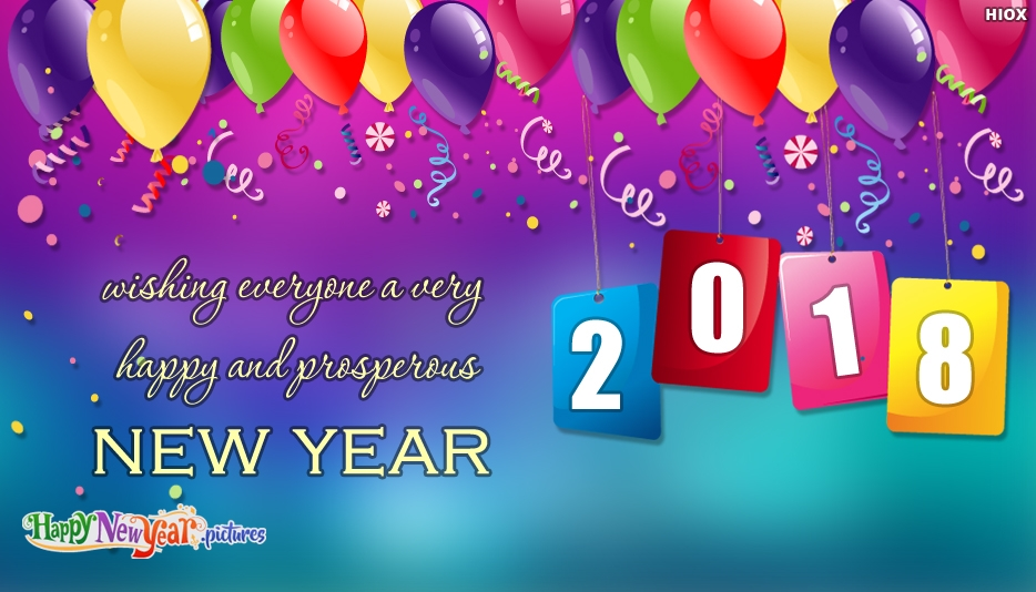 Wishing Everyone A Very Happy and Prosperous New Year