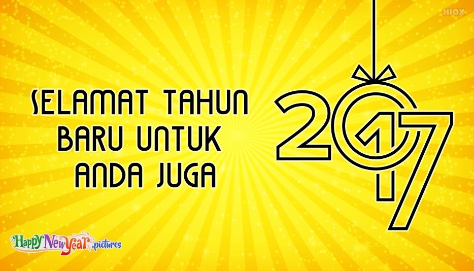 Selamat Tahun Baru Sahabat