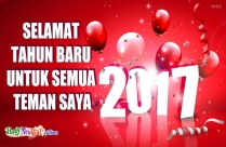 Selamat Tahun Baru Untuk Semua Teman Saya