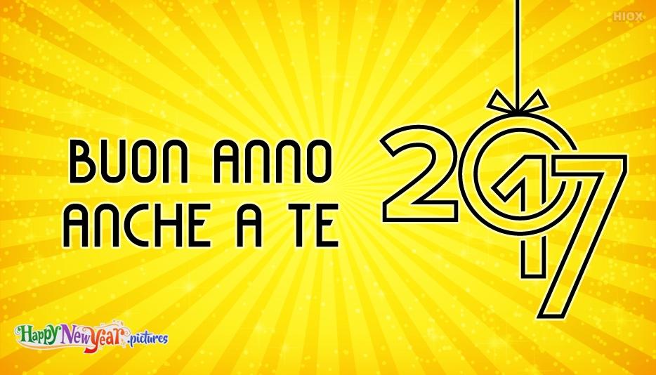 buon Anno Anche A Te