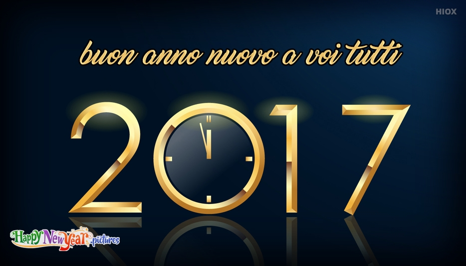 buon anno nuovo a voi tutti