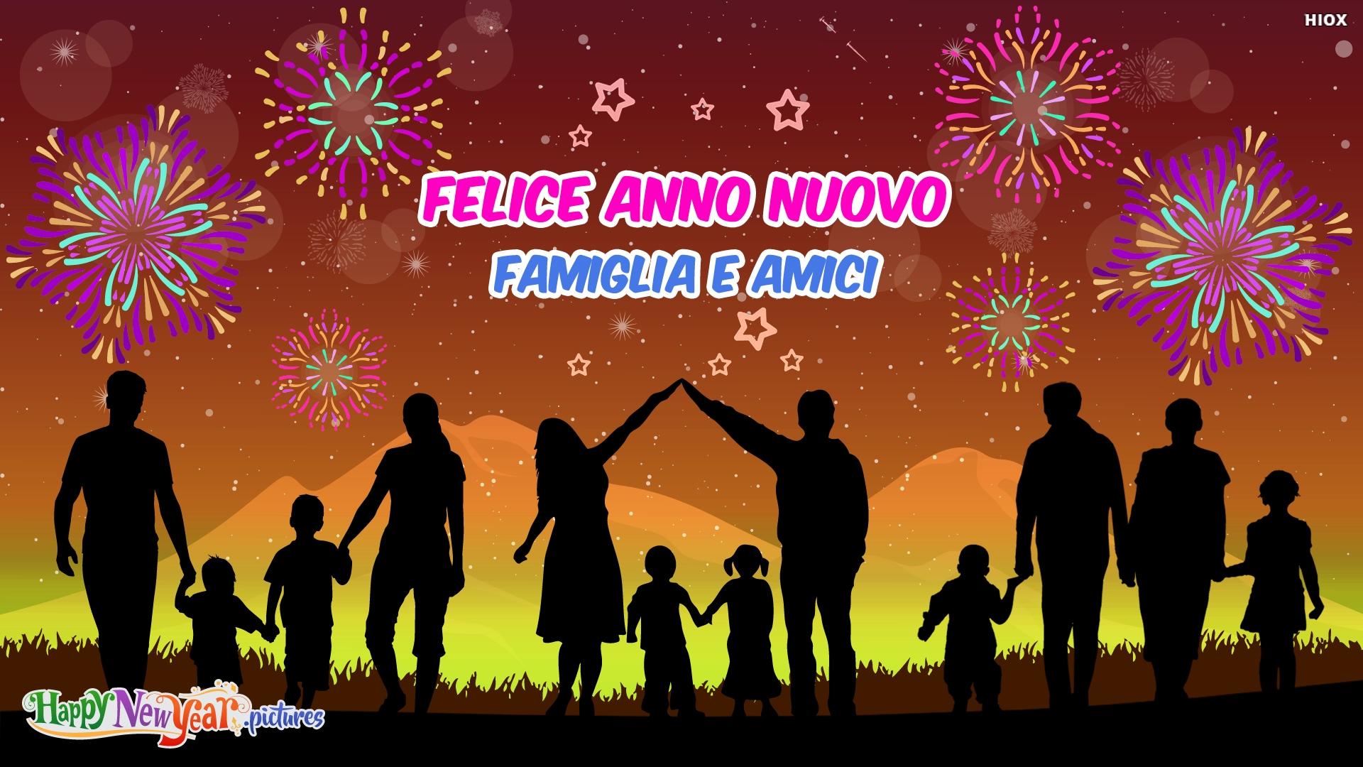 Felice Anno Nuovo Famiglia E Amici