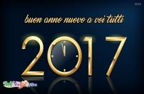 Auguro A Tutti Un Felice Anno Nuovo In Anticipo