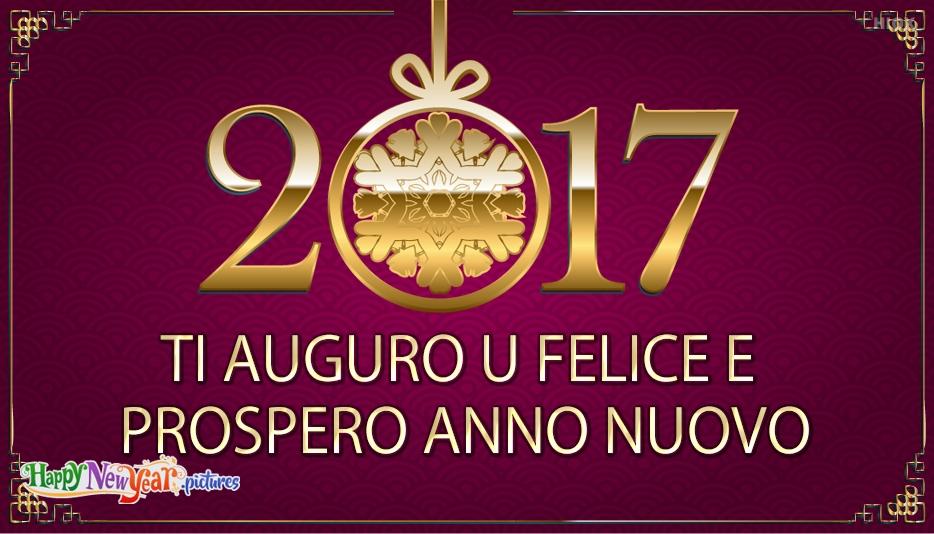ti auguro u felice e prospero anno nuovo