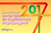 Szczęśliwego Nowego Roku Wszystkim Moim Przyjaciołom