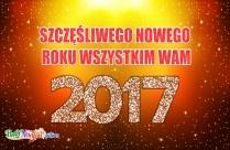 Szczęśliwego Nowego Roku Wszystkim Wam