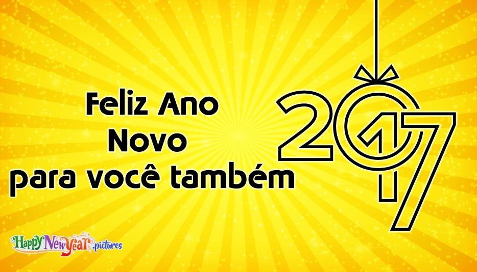 Feliz Ano Novo para você também