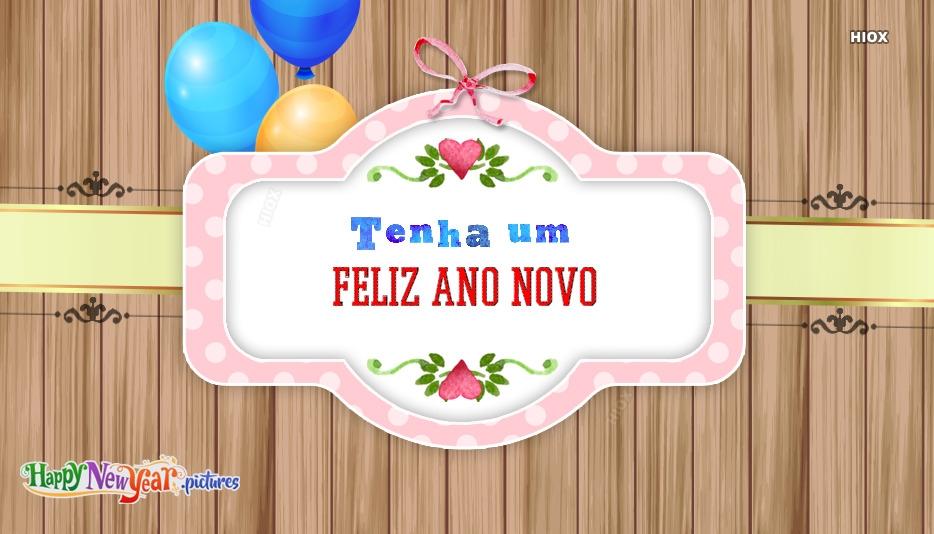 feliz Ano Novo Saudações