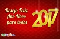 Desejo Feliz Ano Novo Para Todos