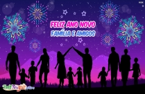 Feliz Ano Novo Família E Amigos