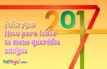 Feliz Ano Novo Para Todos Os Meus Queridos Amigos