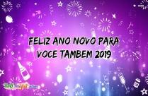 Feliz Ano Novo Para Voce Tambem 2019