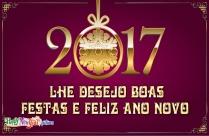 Lhe Desejo Boas Festas E Feliz