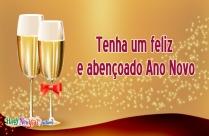 Tenha Um Feliz E Abençoado Ano Novo