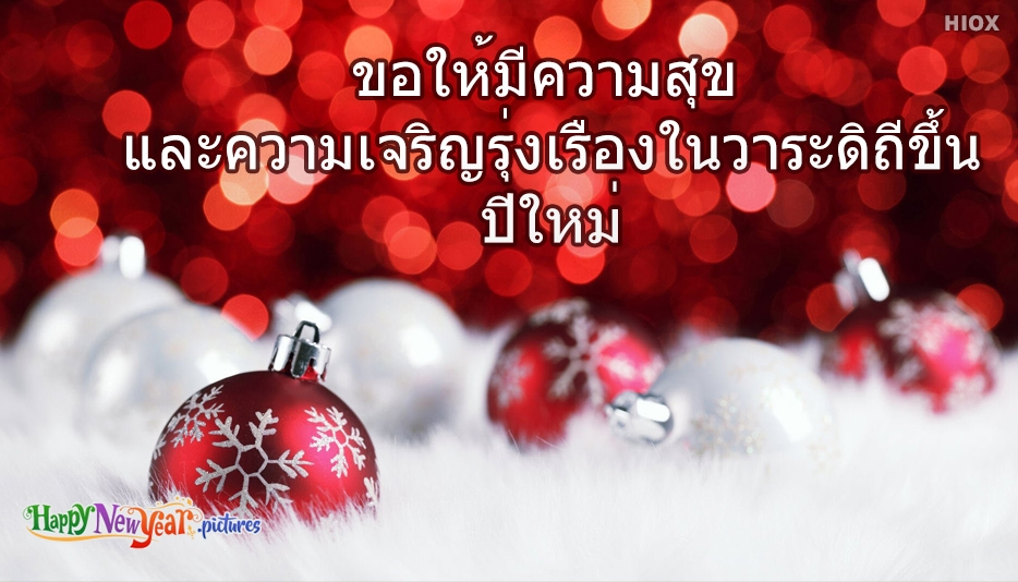 มีความสุขและความเจริญรุ่งเรืองในวาระดิถีขึ้นปีใหม่