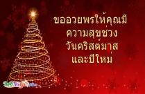 ขออวยพรให้คุณมีความสุขช่วงวันคริสต์มาสและปีใหม่
