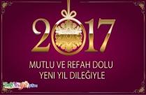 Mutlu Ve Refah Dolu Yeni Yıl Dileğiyle