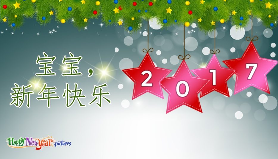 宝宝,新年快乐