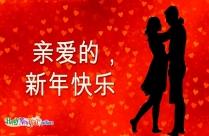 祝我男朋友,新年快乐